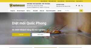 Thiết kế website Dịch vụ diệt mối