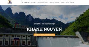 Thiết kế website Xây lắp điện 2