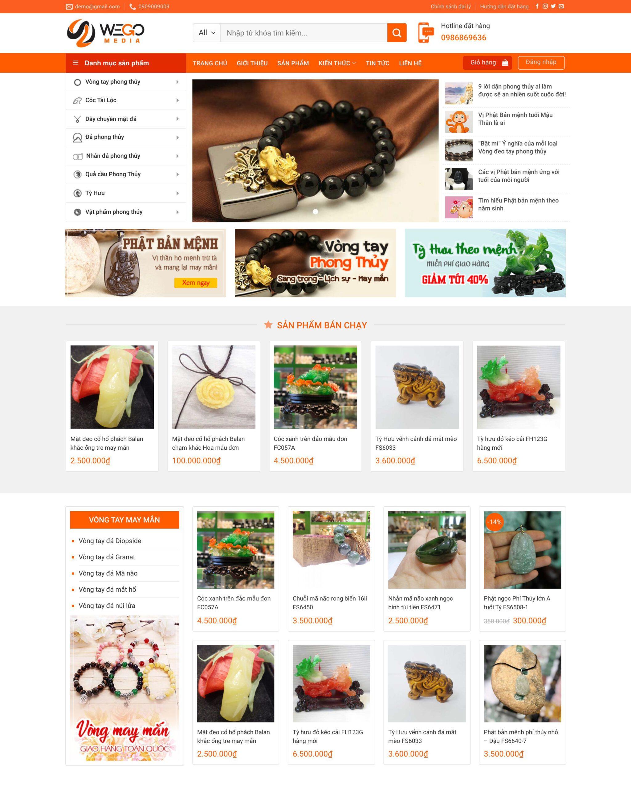 Website bán đồ phong thuỷ