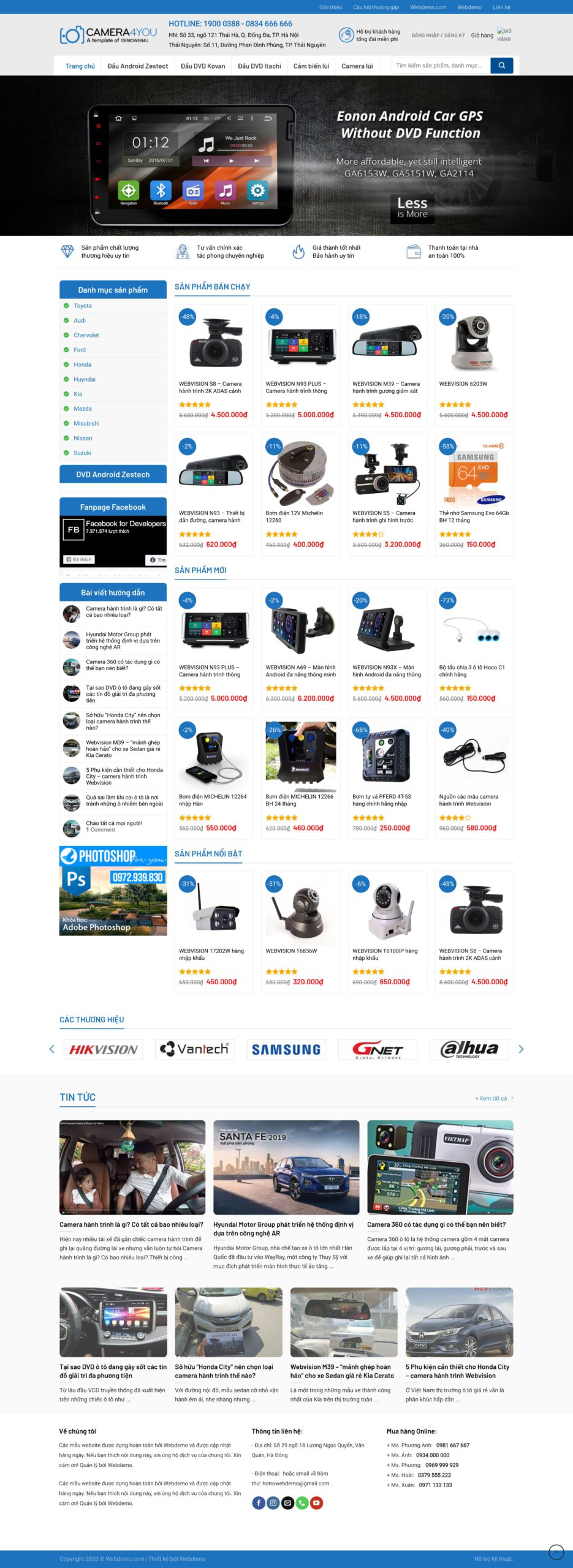 Thiết kế website Bán camera quan sát