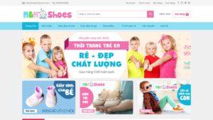 Thiết kế website Thời trang trẻ em