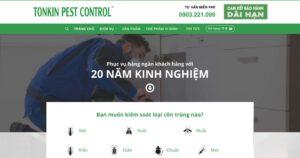Thiết kế website Kiểm soát côn trùng