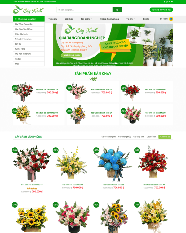 Website hoa tươi 2